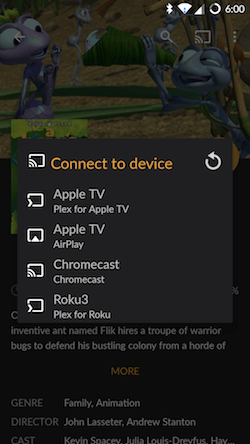 Connect to Chromecast device