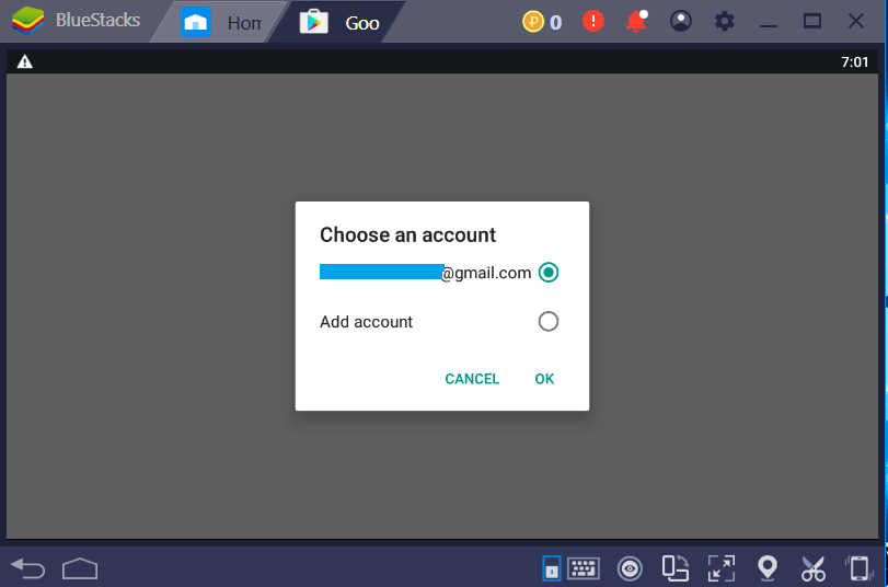 Click Choose or Add Account