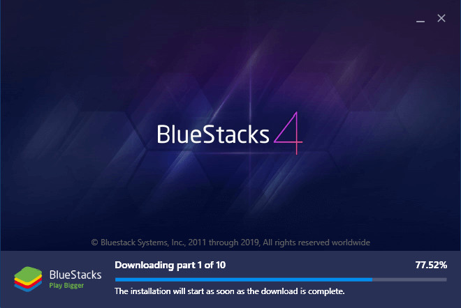 Wait for BlueStacks to Install