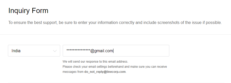 Enter the Email Id