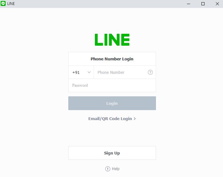 Login LINE PC