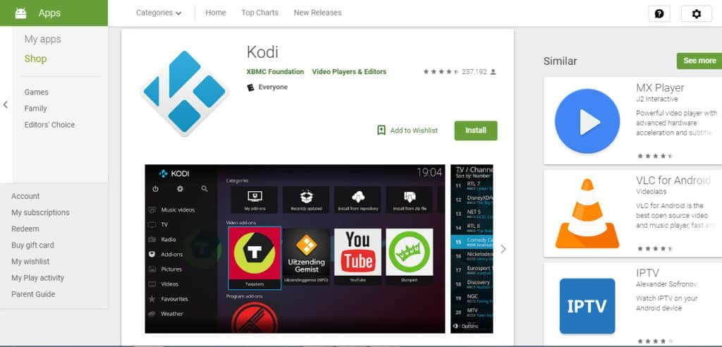 Kodi for Android Box Download
