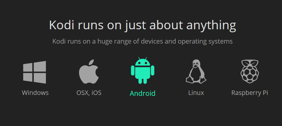 Choose Android icon