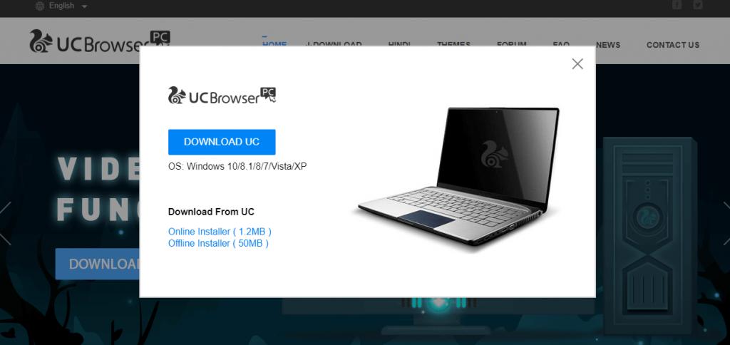 Choose Online or Offline Installer