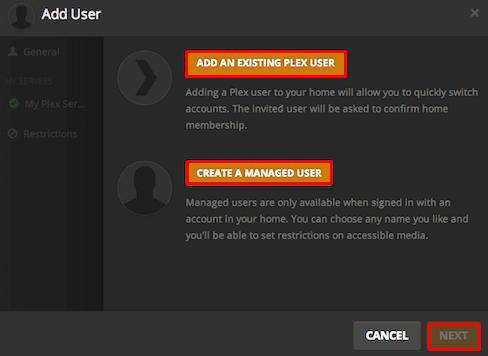 Create Plex Account or Login