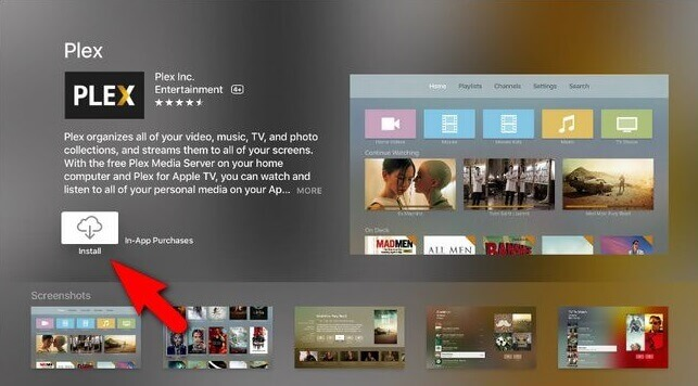 Download Plex for Apple TV