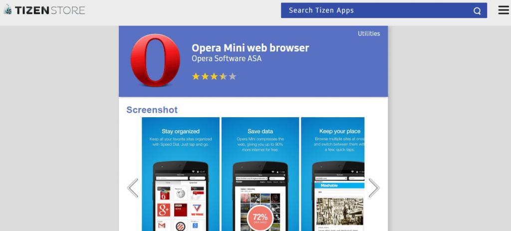 Opera Mini - UC Browser Tizen Alternative