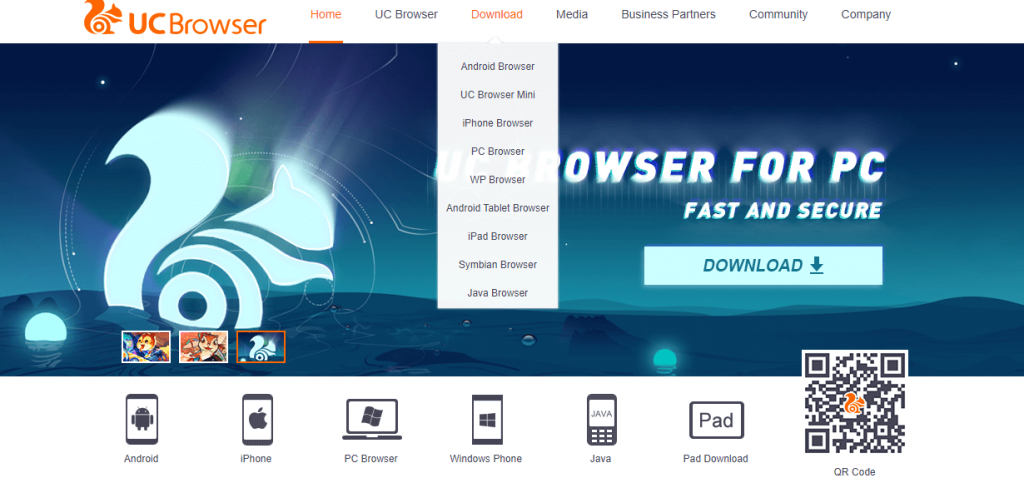UC Browser Download for Java Phone