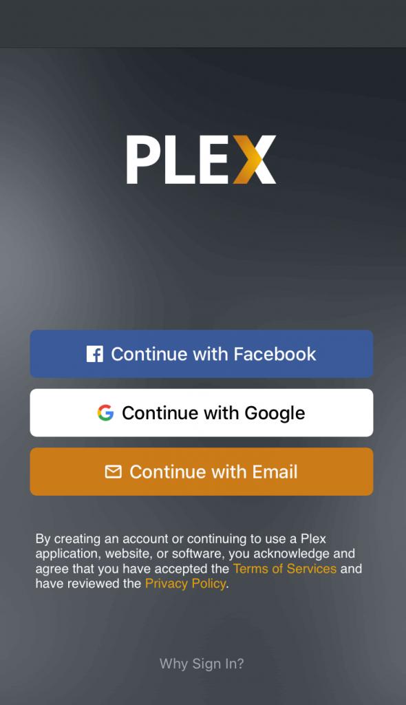 Plex TV Sign in