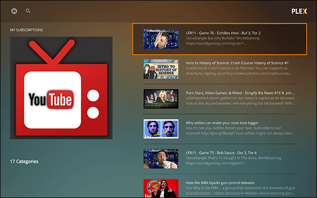 YouTube Plugin for Plex