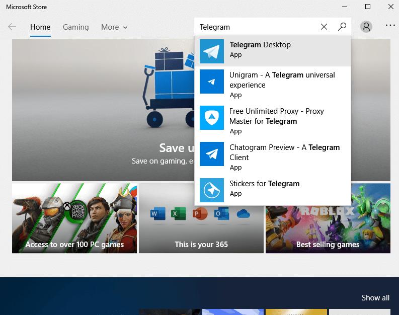 Choose Telegram Desktop