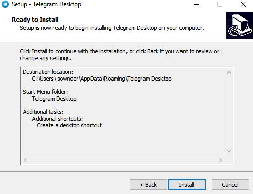 Click Install