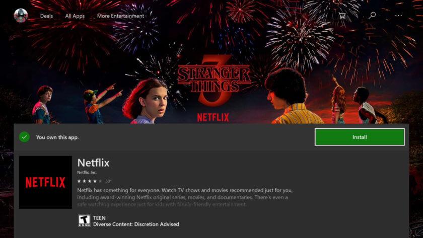 Download Netflix Xbox 360/One