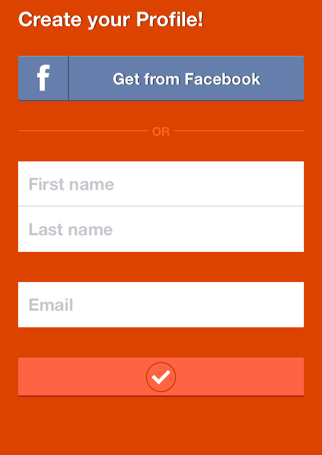 Create Tango Account