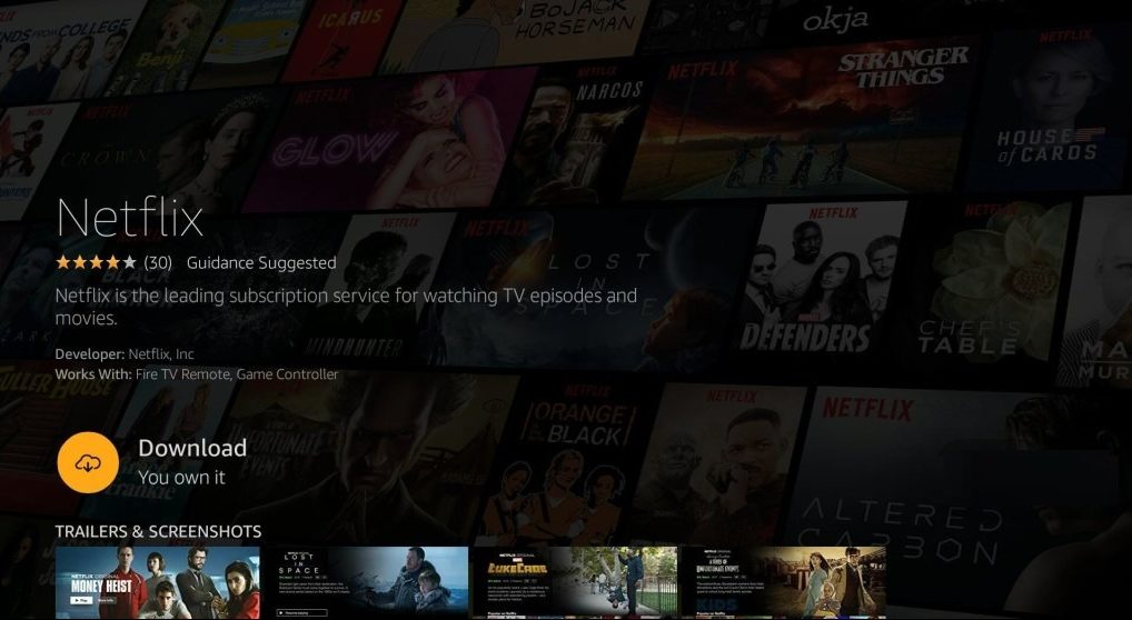 Netflix on Amazon Fire Stick