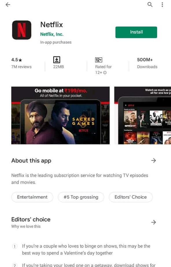 Netflix App Download