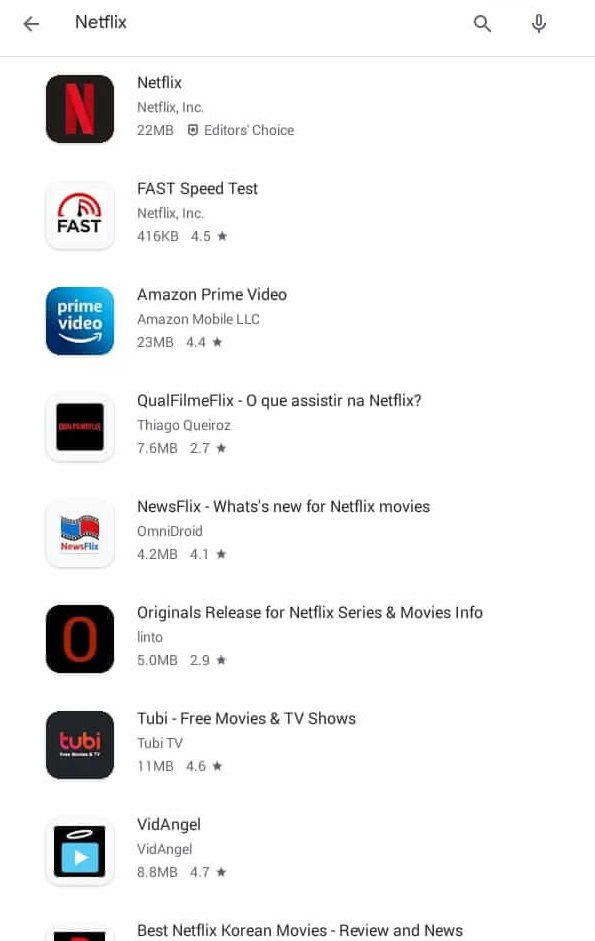 Select the Netflix App