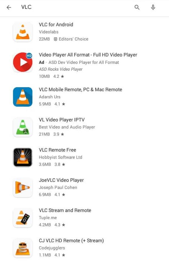 Choose VLC