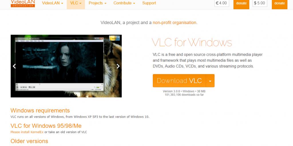 Download VLC Windows version