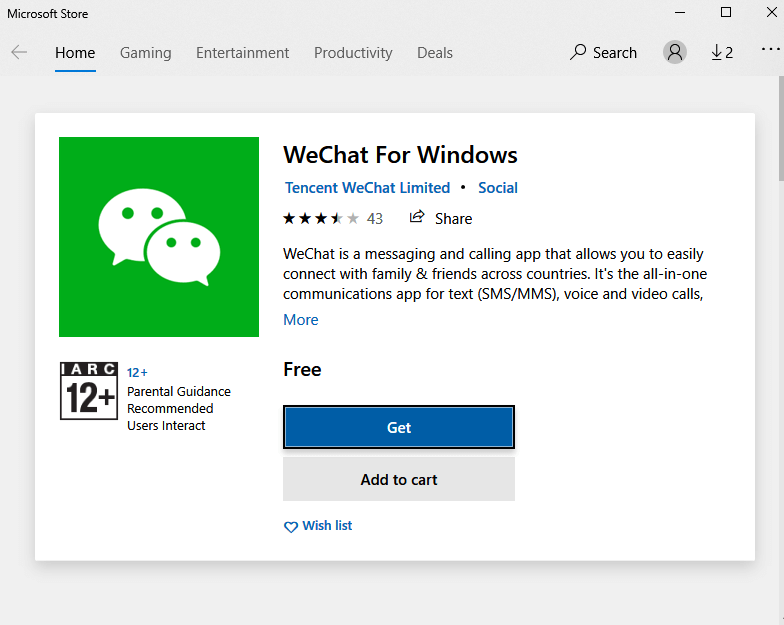 Download WeChat for Windows PC