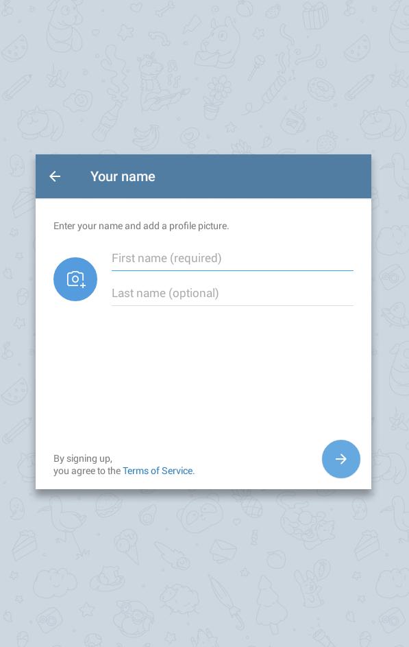 Provide Basic Info for Telegram