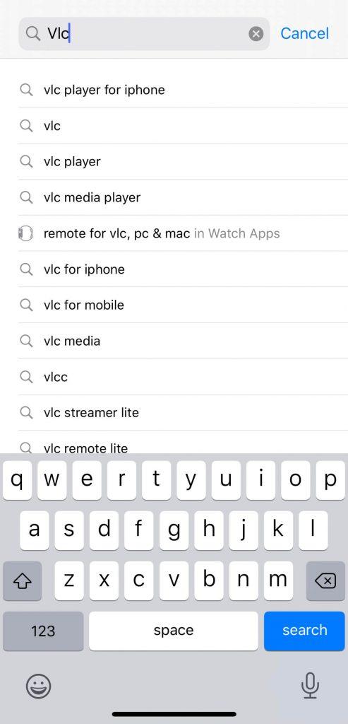 Search VLC Player