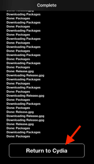 Choose to go back to Cydia
