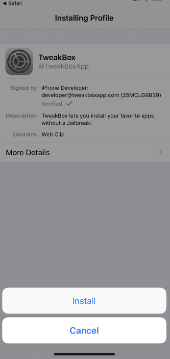 Press Install option