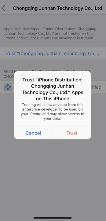 Press Trust option