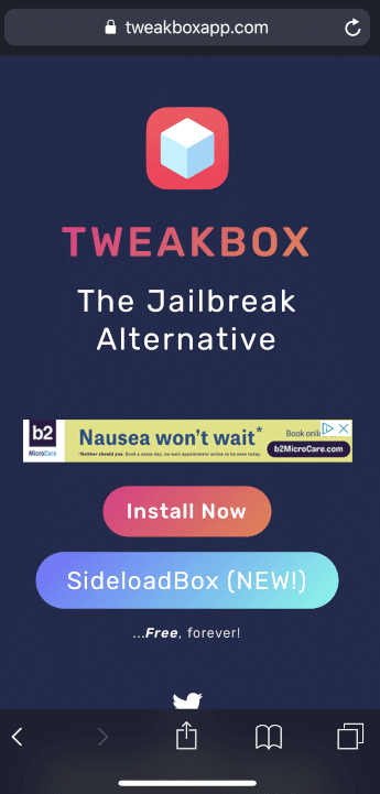 Select Install Now button