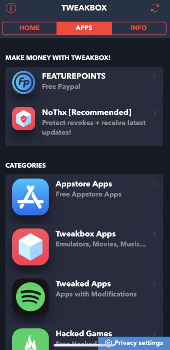Select TweakBox Apps