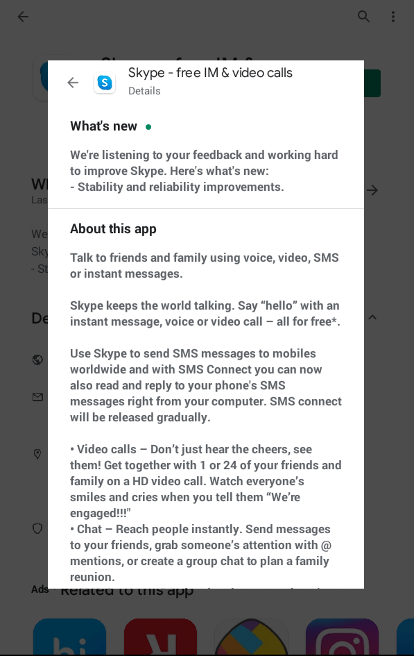 Skype Features