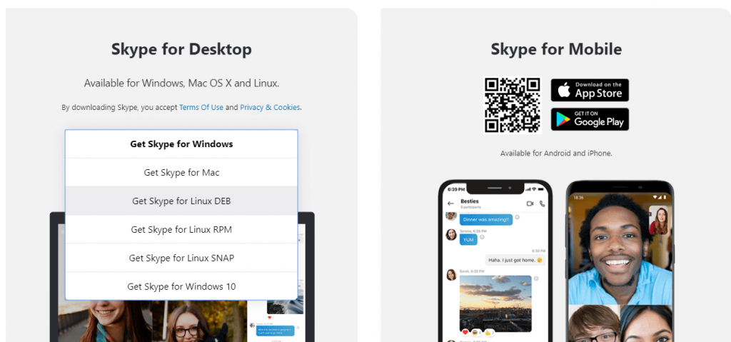 Download Skype for Linux