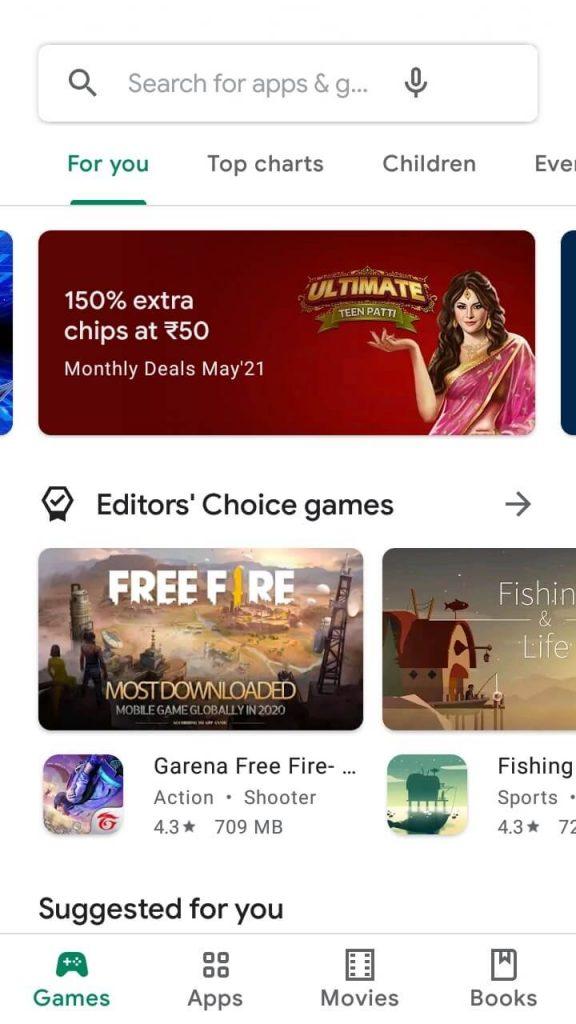 Click Search bar - Battlegrounds Mobile India Apk