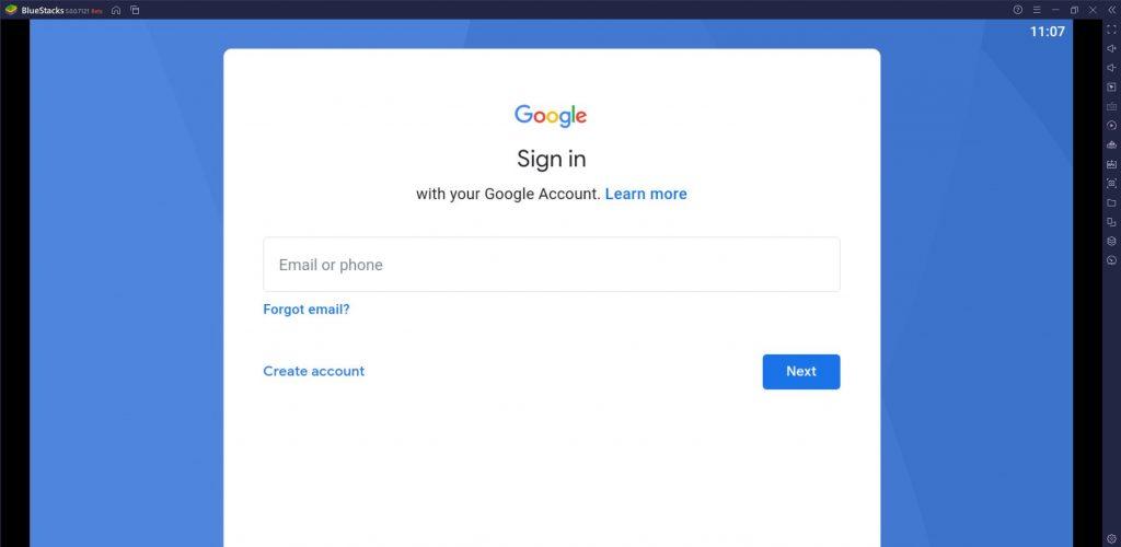 Enter Gmail ID